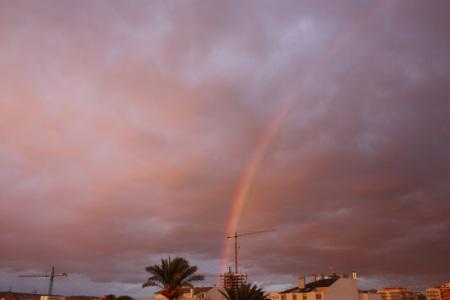 De forma sorpendente dijo de aparecer un arco iris :D