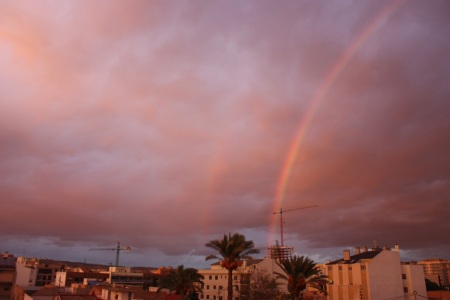 Lo que parecia un arco iris, me encontré con un doble arco iris ^^ precioso!