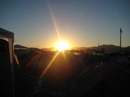 El amanecer del último día en Villena...